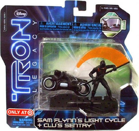 Tron Legacy Sam Flynn's Light Cycle + Clu's Sentry Action Pack Vintage - It Came From Planet Earth