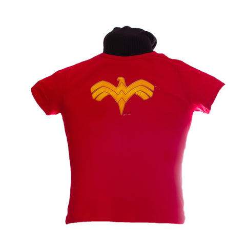 Wonder Woman Logo T-shirt, XL, boat neck, women's