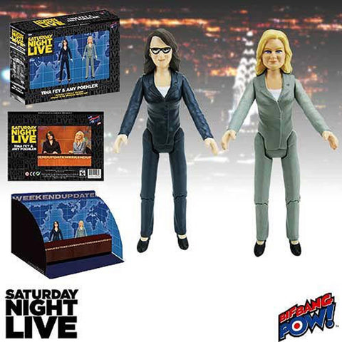 Saturday Night Live Tina Fey & Amy Poehler Figure Playset - It Came From Planet Earth  - 1