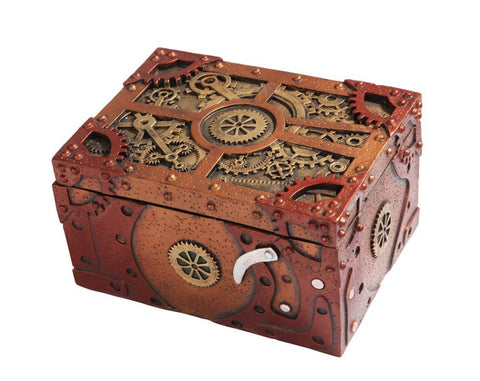 Steampunk Clockwork Mechanical Jewelry Keepsake Box - It Came From Planet Earth  - 1