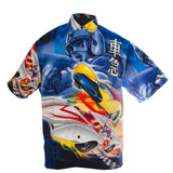 Speed Racer button-down shirt, XL, Polyester
