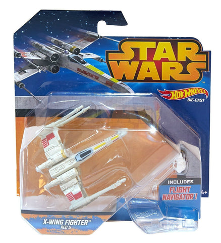 Hot Wheels Star Wars Die-Cast X-Wing Fighter Red 5 - It Came From Planet Earth  - 1