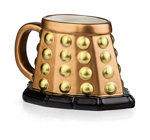 Doctor Who Bronze Dalek Base Ceramic 3D Mug - It Came From Planet Earth