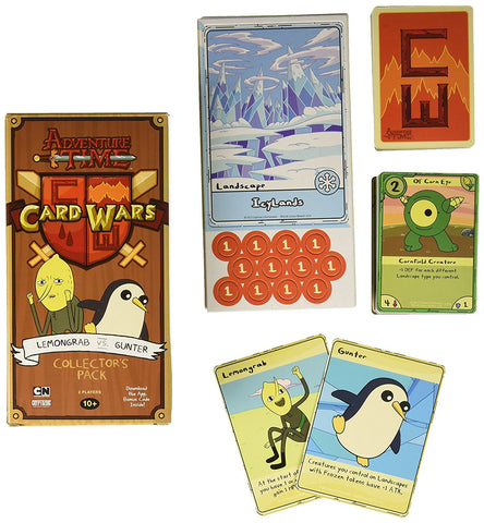 Adventure Time Card Wars Lemongrab Vs Gunter Collector's Pack