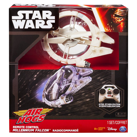 Air Hogs Star Wars Millennium Falcon Radio Controlled Drone Vehicle - It Came From Planet Earth  - 1