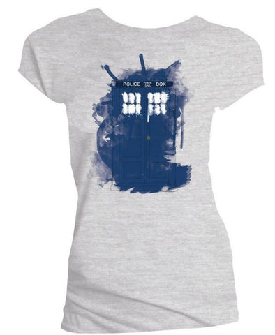 Doctor Who Modern Art TARDIS Ladies T-Shirt - It Came From Planet Earth  - 1