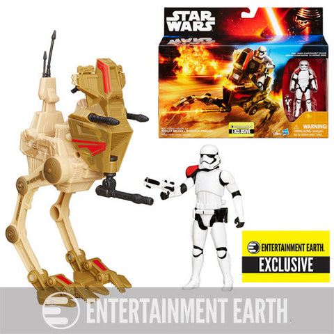 Star Wars Force Awakens Desert Assault Walker with First Order Stormtrooper Officer Entertainment Earth Exclusive - It Came From Planet Earth