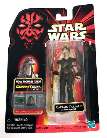 Star Wars Phantom Menace Captain Tarpals Figure Vintage - It Came From Planet Earth  - 1