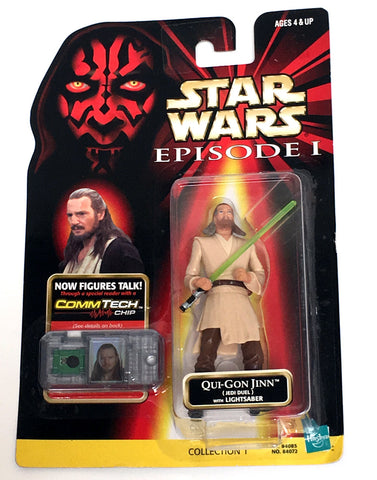 Star Wars Phantom Menace Qui-Gon Jinn (Jedi Duel) Figure Vintage - It Came From Planet Earth  - 1