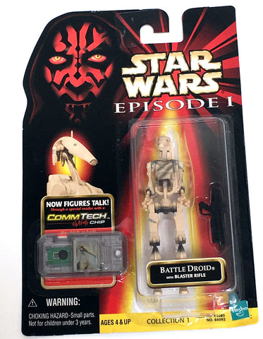 Star Wars Phantom Menace Battle Droid Figure Vintage - It Came From Planet Earth  - 1