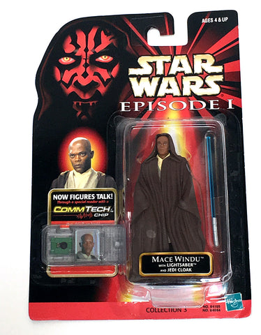 Star Wars Phantom Menace Mace Windu Figure Vintage - It Came From Planet Earth  - 1