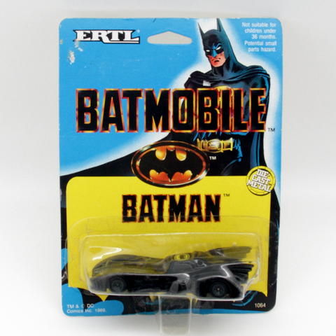 ERTL 1989 Tim Burton Batman The Batmobile Diecast Car - It Came From Planet Earth  - 1