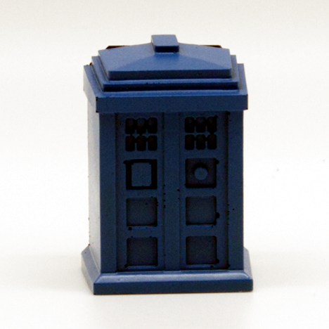 Blue British Police Phone Booth Magnet - It Came From Planet Earth  - 1