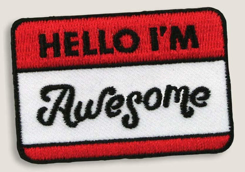 Patch - Hello I'm Awesome Name Tag