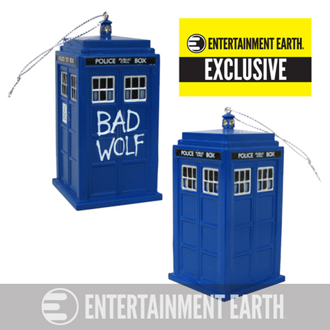 Doctor Who Bad Wolf TARDIS Holiday Ornament with Sound - It Came From Planet Earth
