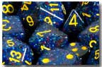 Polyhedral 7-Die Speckled Dice Set - Twilight - It Came From Planet Earth  - 2