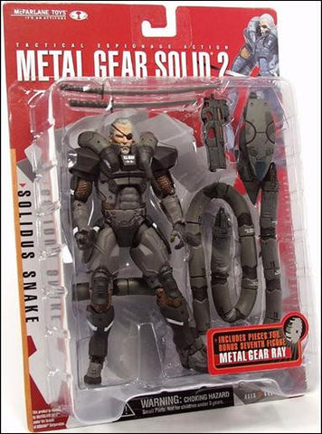 McFarlane Toys Metal Gear Solid 2 Solidus Snake Action Figure Vintage - It Came From Planet Earth  - 1