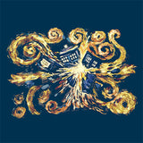 Doctor Who Van Gogh Exploding TARDIS T-Shirt - It Came From Planet Earth  - 2
