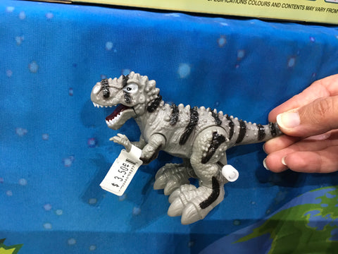 Dinosaur T-Rex Wind Up Toy - Grey