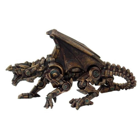 Steampunk Dragon Sculpture Figure Large - It Came From Planet Earth