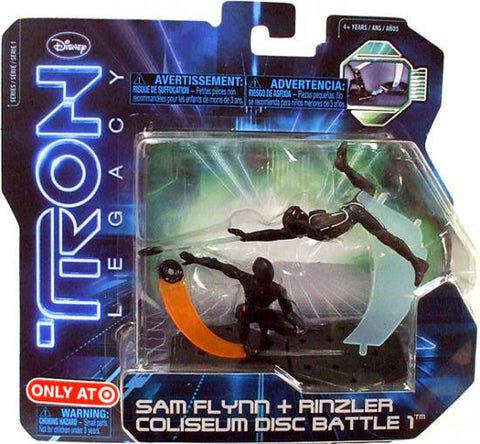 Tron Legacy Sam Flynn + Rinzler Coliseum Disc Battle 1 Action Pack Vintage - It Came From Planet Earth