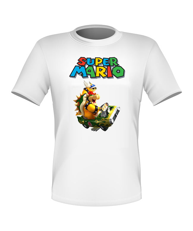 Brand New Fun Custom Super Mario Kart T-shirt Bowser All Sizes Nice!