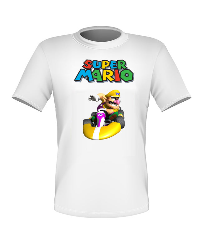 Brand New Fun Custom Super Mario Kart T-shirt Wario All Sizes Nice!
