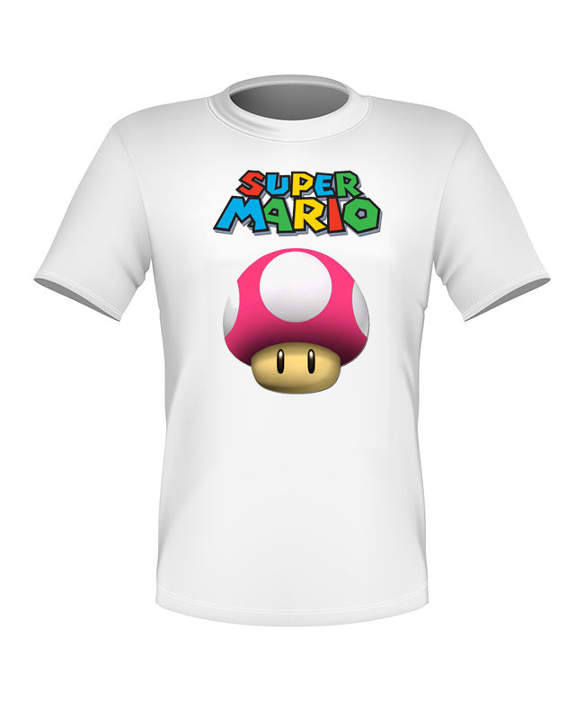 Brand New Fun Custom Super Mario Kart T-shirt Mushroom All Sizes Nice!