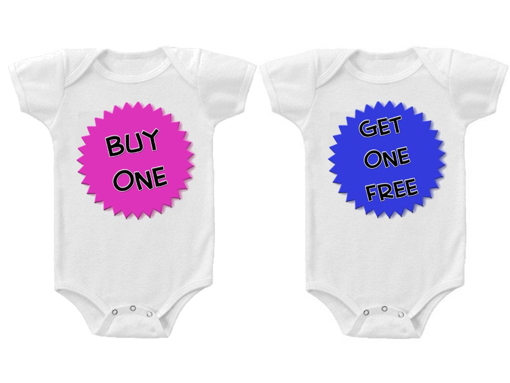 Twins Baby Boys Girls Funny Bodysuits Creeper Buy One Get One
