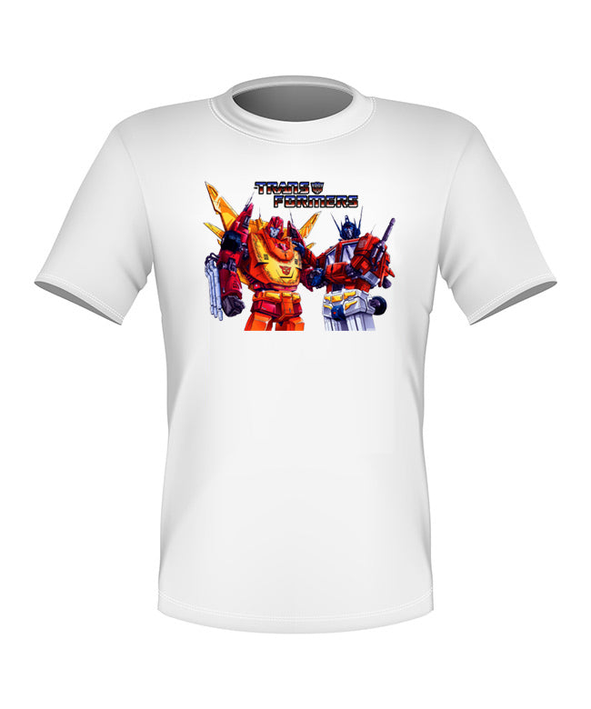 Brand New Fun Custom Transformers T-shirt Rodimus and Prime All Sizes Nice!