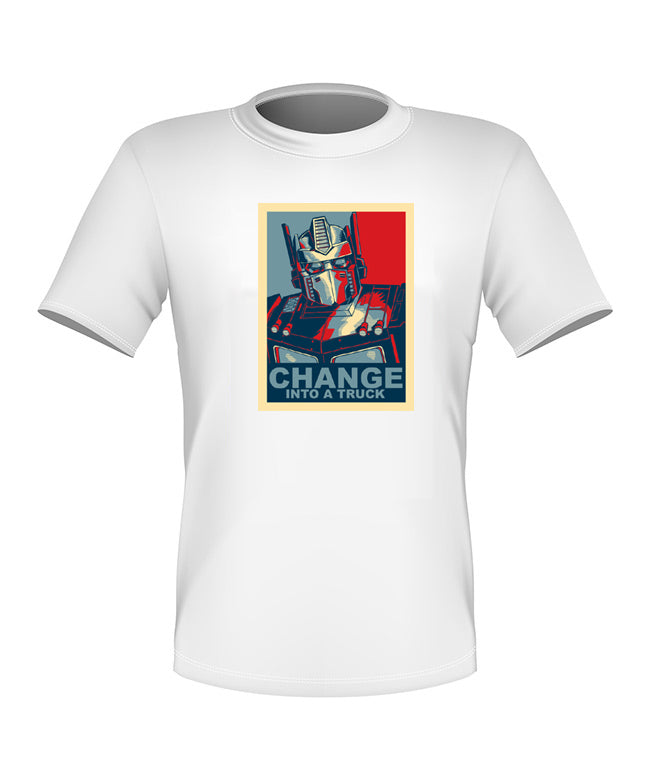 Brand New Fun Custom Transformers T-shirt Optimus Prime Change All Sizes Nice!
