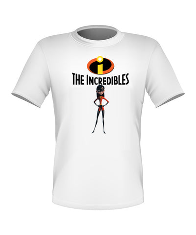 Brand New Fun Custom Disney The Incredibles T-shir Violet All Sizes Nice!