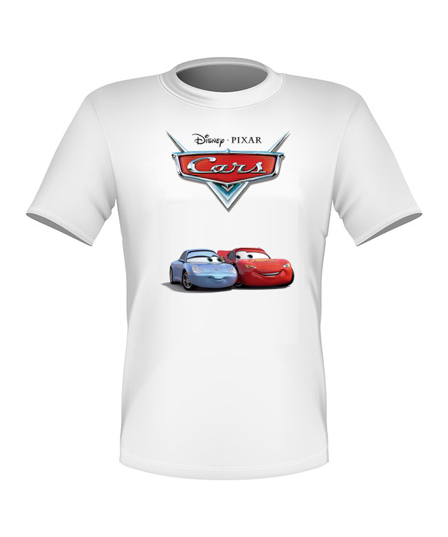 Brand New Fun Custom Disney Cars Movie T-shirt Sally and Mcqueen All Sizes Nice!
