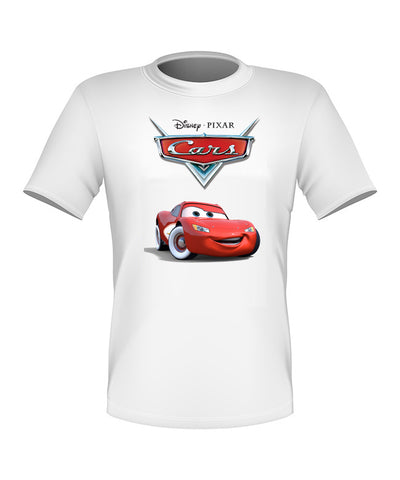 Brand New Fun Custom Disney Cars Movie T-shirt Lightning McQueen All Sizes Nice!