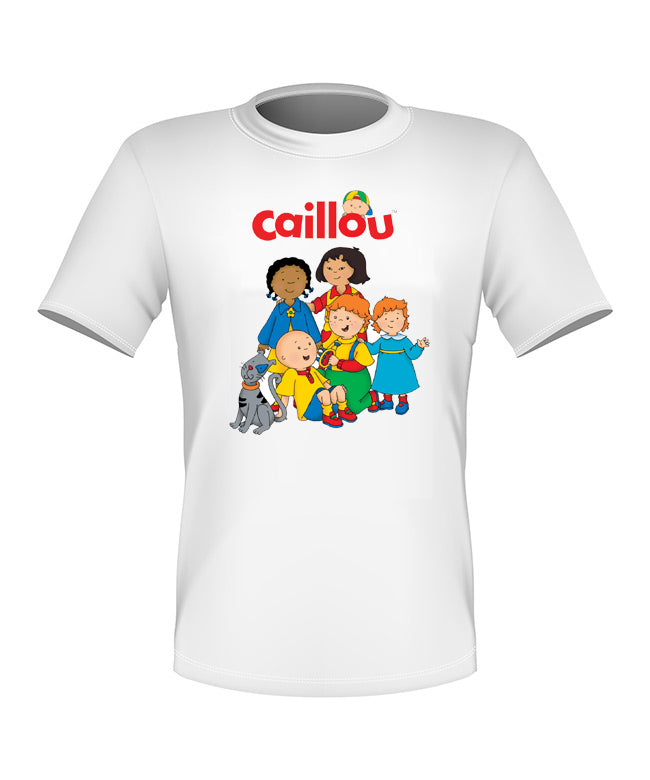 Brand New Fun Custom T-shirt Caillou and Everyone All Sizes Cute!