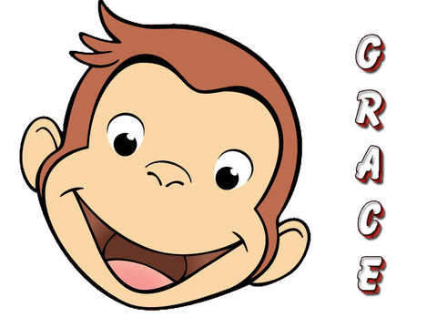 Personalized Curious George T-shirt With Name Tee Shirt NEW Great Gift! #2