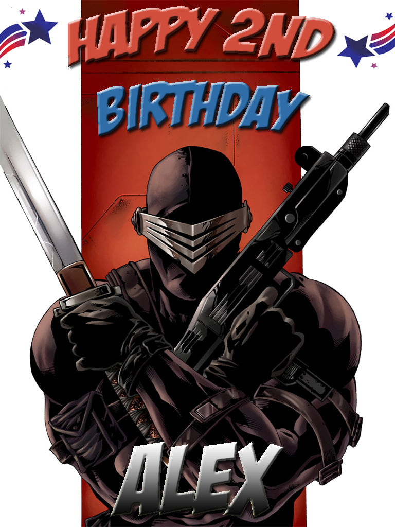 Personalized Custom GI Joe Snake Eyes Birthday Shirt T-shirt Very Cute! #2