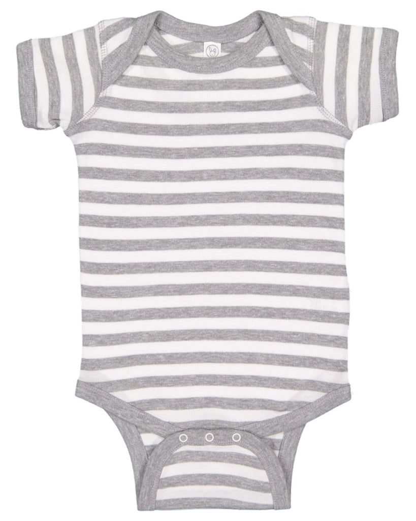 Blank Heather White Stripe Baby Bodysuits Creeper Very Soft Great For Home Projects