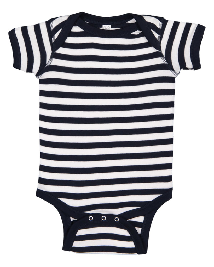 Blank Navy White Stripe Baby Bodysuits Creeper Very Soft Great For Home Projects