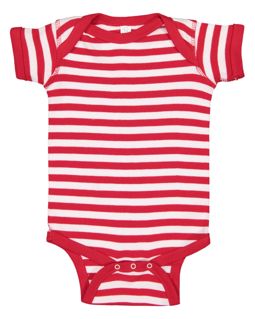 Blank Red White Stripe Baby Bodysuits Creeper Very Soft Great For Home Projects