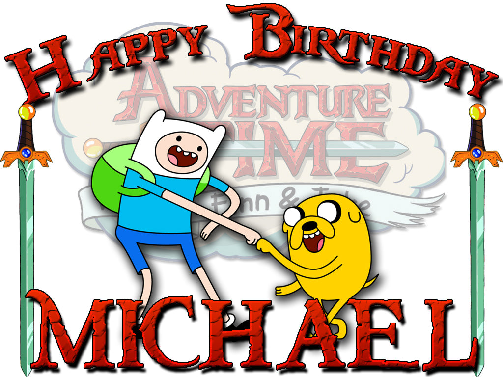Personalized Adventure Time Birthday Shirt T-shirt Very Cute!