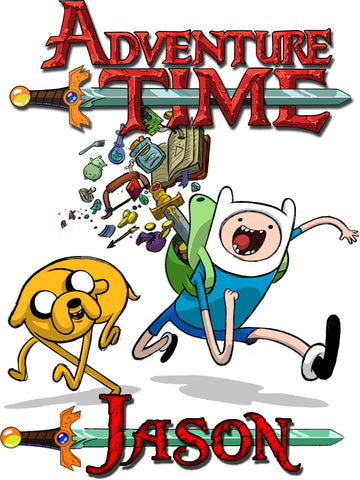 Personalized Adventure Time T-shirt With Name Tee Shirt NEW Great Gift! #2