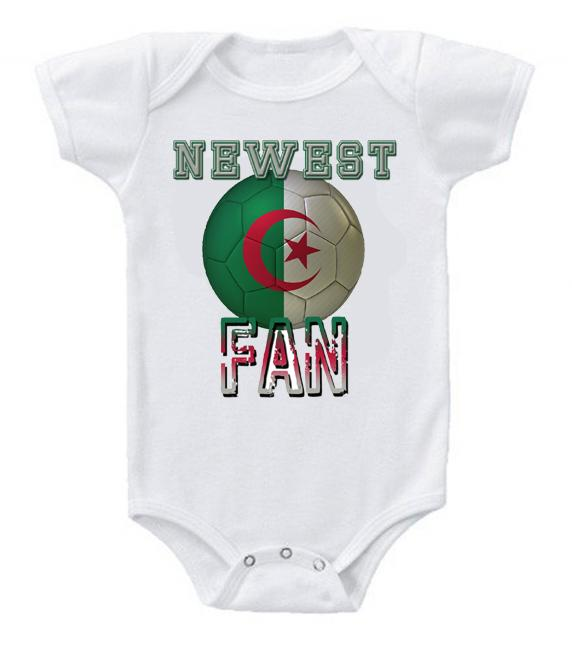 Cute Funny Baby Bodysuits Creeper World Cup Soccer Algeria Newest Fan