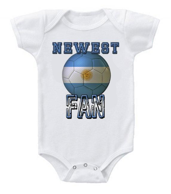 Cute Funny Baby Bodysuits Creeper World Cup Soccer Argentina Newest Fan