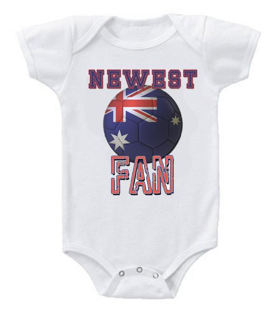 Cute Funny Baby Bodysuits Creeper World Cup Soccer Australia Newest Fan
