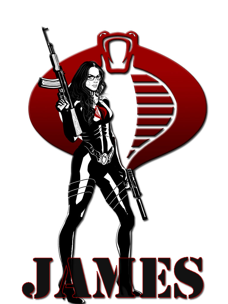 Personalized GI Joe Baroness T-shirt With Name Tee Shirt NEW Great Gift!