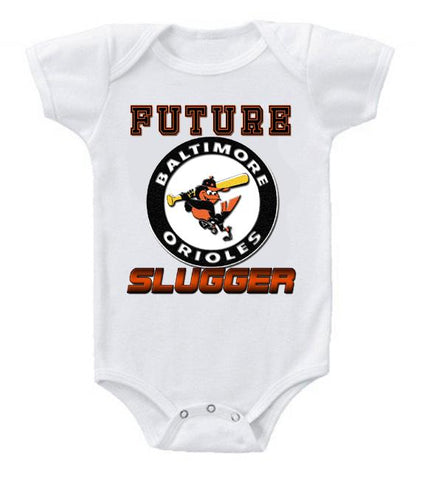 Cute Funny Baby Bodysuits Creeper Baseball MLB Baltimore Orioles #2