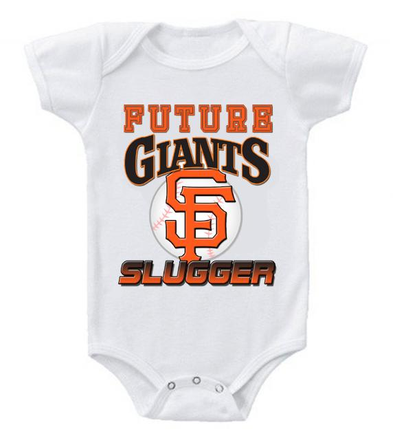 Cute Funny Baby Bodysuits Creeper Baseball MLB San Francisco Giants #4