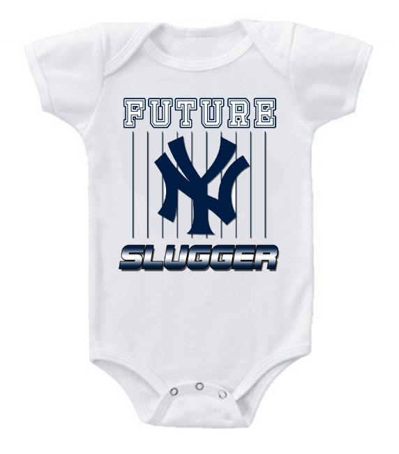 Cute Funny Baby Bodysuits Creeper Baseball MLB New York Yankees #3
