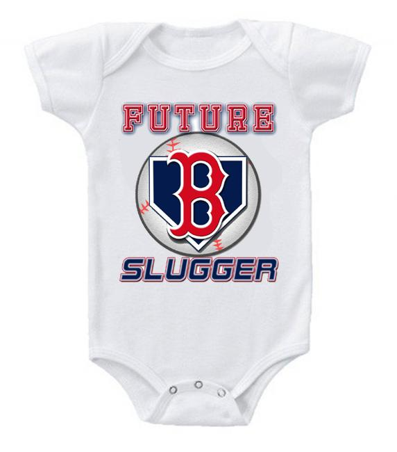 Cute Funny Baby Bodysuits Creeper Baseball MLB Boston Red Sox #3